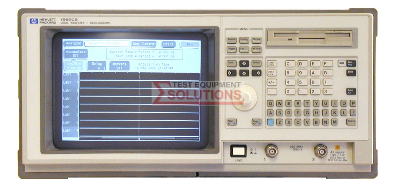Keysight (Agilent) 1660CS 500MHz Timing 100MHz State 136 Ch Logic Analyser C/W DSO