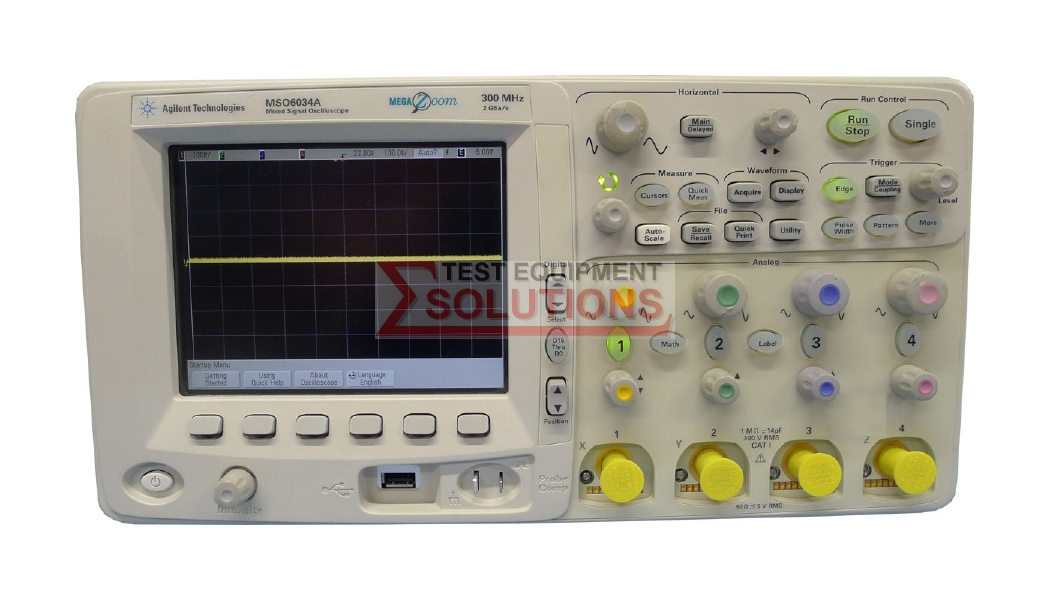 Keysight (Agilent/HP) DSO6034A 4 Channel 300MHz Digital Oscilloscope