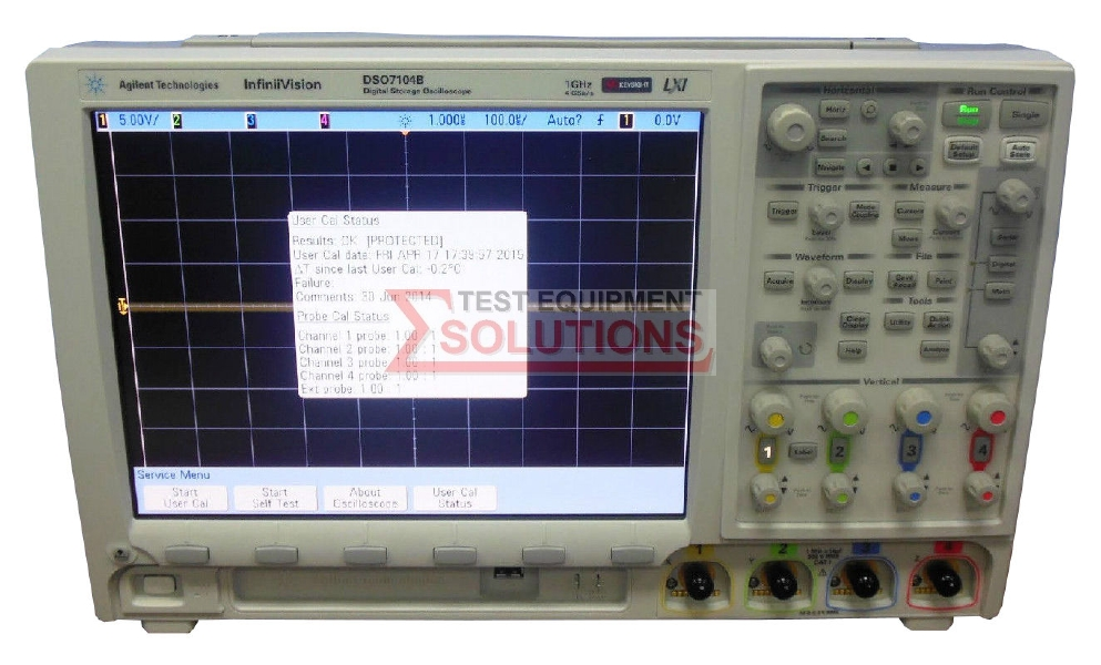 Keysight (Agilent) DSO7104B 4 Channel 1GHz 4GS/s Digitising Oscilloscope