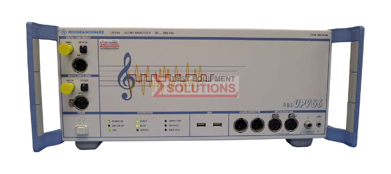 Rohde & Schwarz UPV66 Audio Analyzer DC - 250kHz - No Display